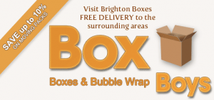 Brighton Boxes - for all your moving day supplies, including boxes, bubble wrap and packing tape